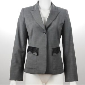 Saks Fifth Avenue -  Gray Jacket - Size 4